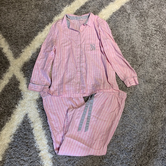 Victoria's Secret Other - Victoria's Secret Pajama Set Medium Stripes